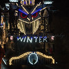 "Glastonbury, UK, 18th November 2017, Griffin Carnival Club float ""Spirit Of Winter"" at the 2017 Glastonbury Carnival"