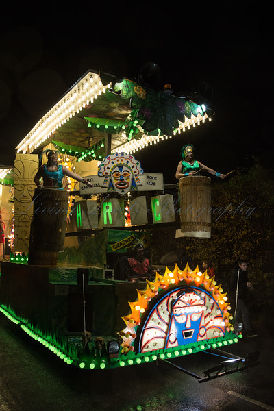 "Glastonbury, UK, 18th November 2017, Hot Rock Carnival Club float ""Inca"" at the 2017 Glastonbury Carnival"