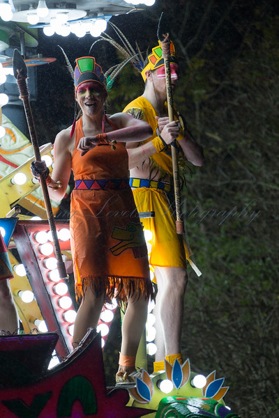 "Lime Kiln CC float ""Teayo"" at the 2017 Glastonbury Carnival"