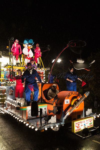 "Glastonbury, UK, 18th November 2017, One Plus One Carnival Club float ""Dastardly and Muttley"" at the 2017 Glastonbury Carnival"