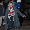 Glastonbury, UK, Saturday 9th December 2017 and as darkness settles, zombies gather for the Glastonbury Zombie Walk.