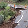 Hwy 159 after the recent rains. Photo courtesy Cordelia Rose. This is the road to her house.
