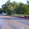 Hwy 180 in Glenwood after overnight flood debris has been pushed to the side.