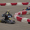 Drifting through the corner is the fast way around the track at the Mayor's Cup Grand Prix.