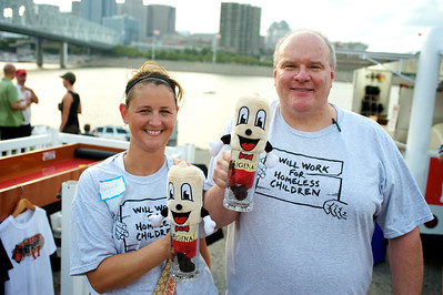 """Margaret and Ashley from the children's organization """"Faces Without Places"""" at Goettafest on Saturday"""