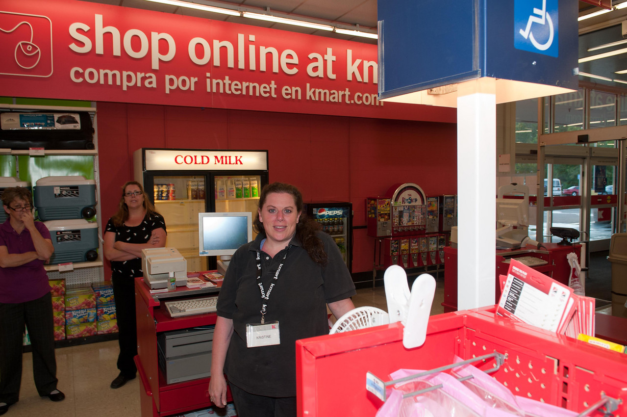 Some of the helpful staff at Kmart.