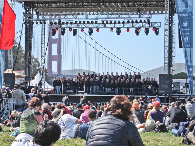 Crissy Field stage - S.F. Gay Men's Chorus