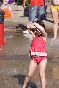 Golden Spike Days 2013, Port Moody, BC. Water park fun. Tela Wakely of Port Coquitlam, BC