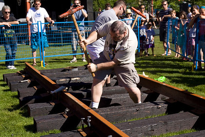 Golden Spike Days 2013, Port Moody, BC. Spike pounding contest