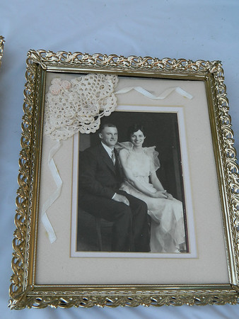 Goldia and the late Carl Miller on their wedding day. May 30, 1935.