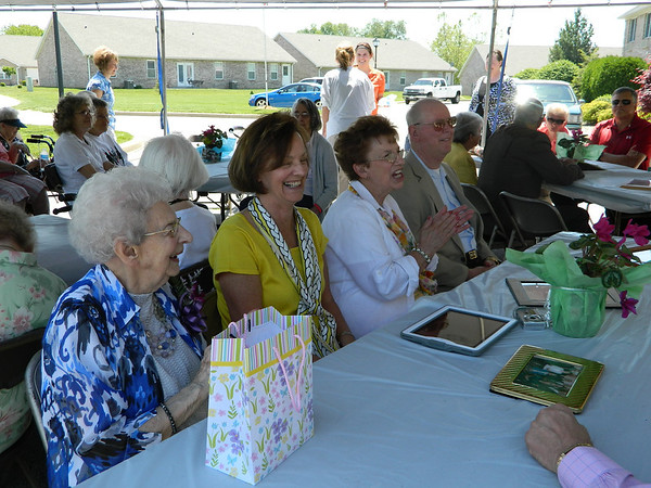 Goldia Miller and several of her children at her 100th birthday party.