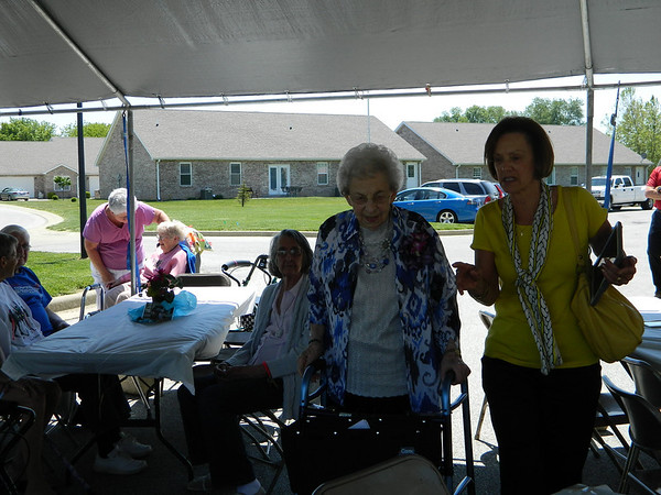 Goldia Miller and daughter Peggy Weil at Miller's 100th birthday party.