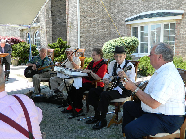 Scoop and the Boys provided music for Goldia Miller's 100th birthday party.