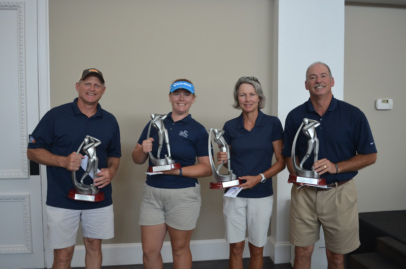 Championship Course: First Place - Scott Spieqel, Perri Kittles, Katie Harris and Steve Kloza, all with Huffines Chevrolet Lewisville