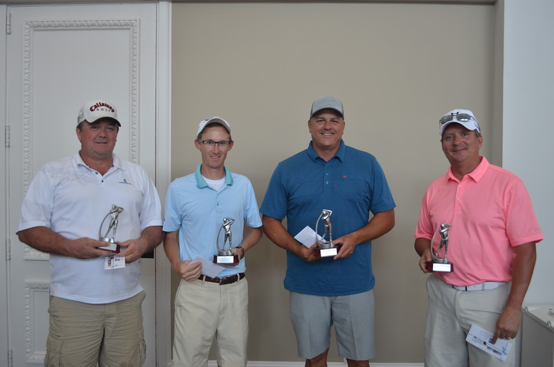Championship Course: Third Place - Charles Gadd, Andersen Windows; Wes Lindsey, Elite Home Design; Sean James, Builders FirstSource; Gary Chasteen, Crestmont Custom Homes & Construction
