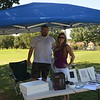 Ben & Heather with Audio Video Innovations set up on one of the holes to meet and greet players.