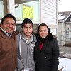 Jose Gomez, Jose Esteban & Rafaela Castellanos.  The other siblings soon joined the family for the House Blessing Celebration.