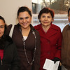 (L-R): Rafaela Castellanos, Cindy DeGallon, Aura Maria & Jose Gomez.  It's a special day for everyone that attended.