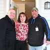 All smiles (L-R): Pastor Dean Kirst, Lead Pastor, Lakeview Lutheran Church, Angie Grim (Center) and Dennis Hellenbrand, Habitat Builder (R).