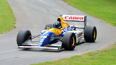 Damon Hill driving the Williams Renault FW14B 1992 3.5 litre V10