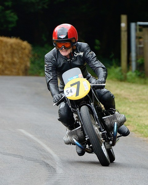 Sammy Miller 1954 BMW Rennsport 492cc 2 cyclinder four stroke Festival of Speed 2014