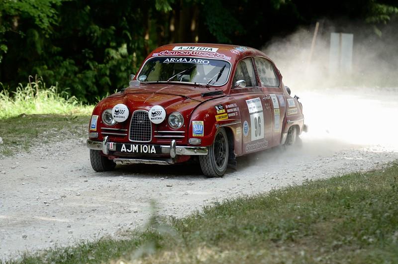 Saab 96 1962 800cc 3 cylinder 2 stroke Jim Valentine Festival of Speed 2014