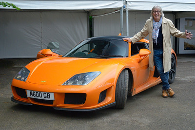 Peter Boutwood with the Noble M600 Tangerine Dream at the Goodwood Festival of Speed 2017-2