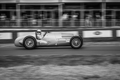 1937 Mercedes Benz W125 in motion - Jochen Mass - Goodwood Festival of Speed 2018