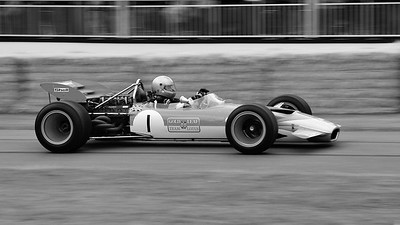 Lotus Cosworth 49B 1968 3 litre V8 Greg Thornton Festival of Speed 2014 BW