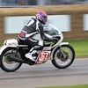 Carl Fogarty riding a Triumph Trident 750 - slippery sam- at the Goodwood Festival of Speed 2016