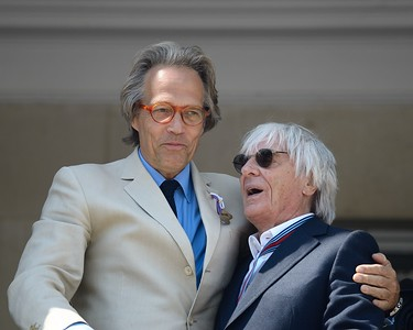 Lord March and Bernie Ecclestone at the Goodwood Festival of Speed 2017