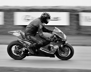 2004 Kawasaki ZXRR with Gunther Knuppertz  at the Goodwood Festival of Speed 2016 bw