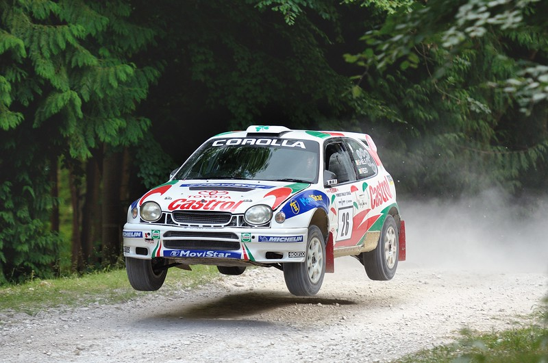 Toyota Corolla WRC 1998 2 litre turbo 4 cyclinder John Reid Goodwood Festival of Speed 2014 Rally Stage