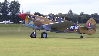 Curtis P40C Tomahawk on the airfield - The Goodwood Revival 2017