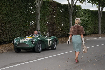 Aston Martin DB3S in focus - The Goodwood Revival 2018