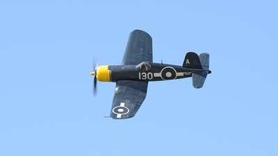 Chance Vought FG-1D Corsair in flight - The Goodwood Revival 2017