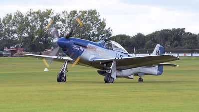 Mustang P51D Miss Helen on airfield - The Goodwood Revival 2017