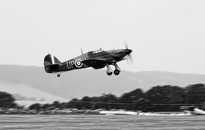 Hawker Hurricane MK1 R4118 UP-W Historic Battle of Britain Aircraft - Westhampnett Goodwood