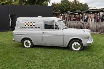 Fod Thames Van - my first car was one of these with side windows and a rear seat - same colour - CJB 630B - The Goodwood Revival 2018