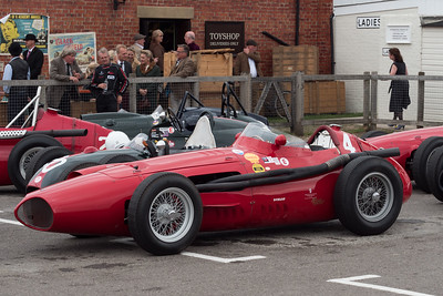 Maserati 250 - end of race - The Goodwood Revival 2018