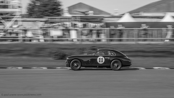 Aston Martin DB2 in action - The Goodwood Revival 2018