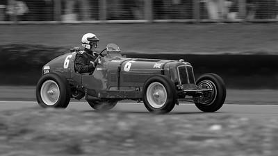 1936 ERA B type R5B Remus - Paddins Dowling - The Goodwood Revival 2017 bw