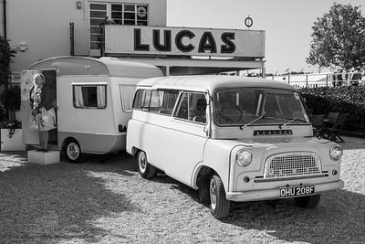 Bedford CA van with caravan - The Goodwood Revival 2018