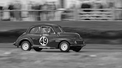 1949 Morris Minor - Rauno Aaltomen - The Goodwood Revival 2017 bw