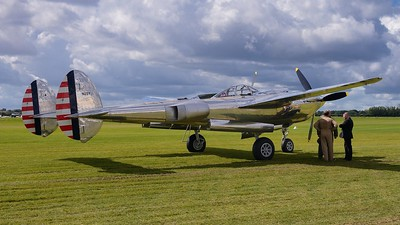 Lockheed P-38 Lightning Pilot in dicussion- The Goodwood Revival 2017