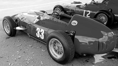 Ferrari Dino in the  Goodwood Paddock BW