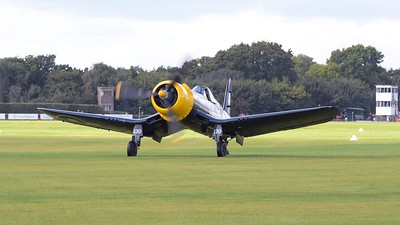 Chance Vought FG-1D Corsair on the airfield - The Goodwood Revival 2017