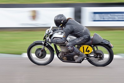1953 Norton 30 M -  Ian Bain Steve Brogan 2 - Barry Sheene Memorial Trophy at the 2016 Goodwood Revival