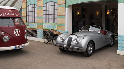 Rennsport VW and Jaguar XK Scene - The Goodwood Revival 2018