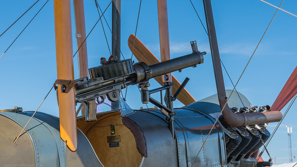Lewis Machine Gun aboard plane - Goodwood Revival 2019